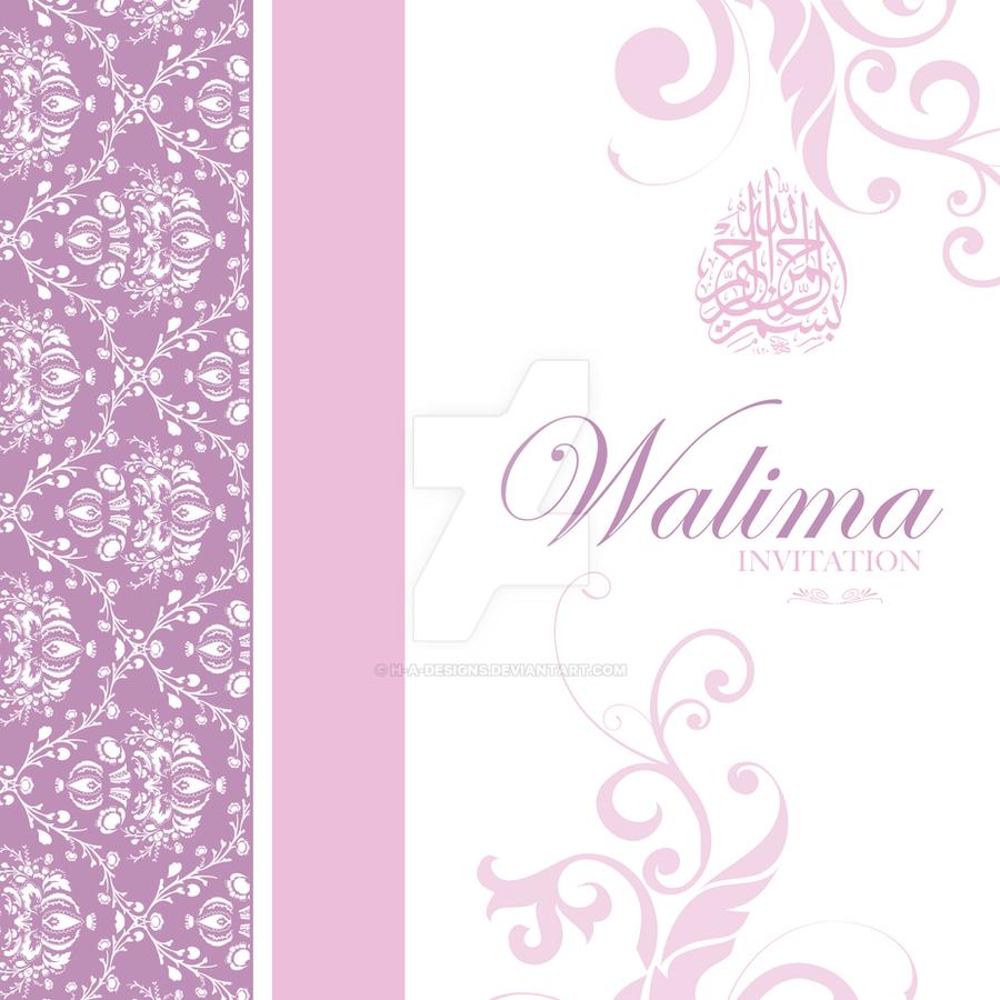 Walima Invitation Card by HAdesigns on DeviantArt – Walima Invitation Card