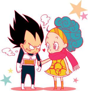 Chibi Vegeta and Bulma