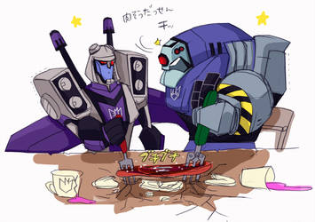 Lugnut and Blitzwing by piyo119