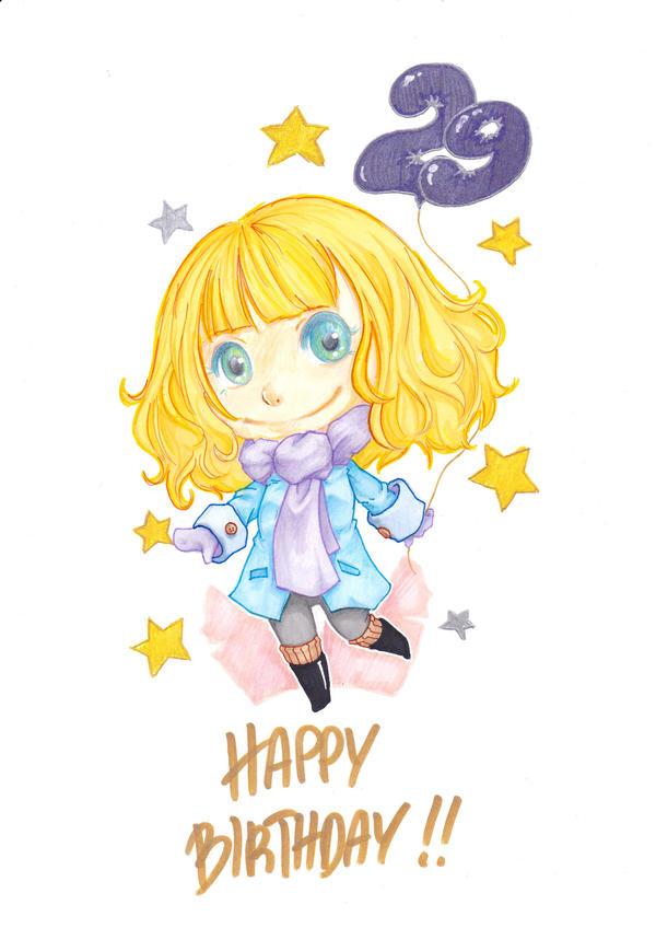 Birthday card for Monika by dumii