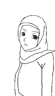 400 Gambar Hitam Putih Wanita Berjilbab Hd Terbaru Infobaru