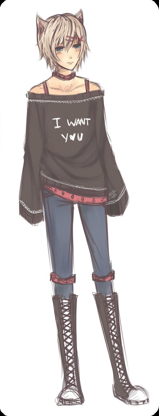 Anime Cat Sweater Girl Base