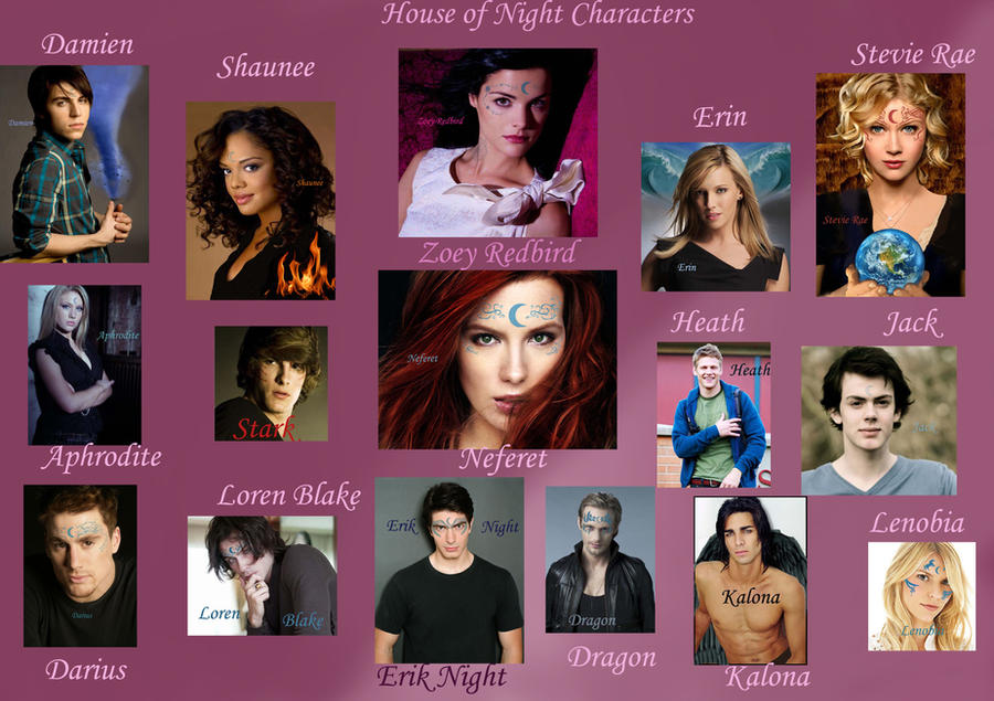 House of night cast by ladynitadarkness on deviantart for Housse of night