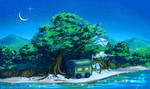 Summer landscape - twilight