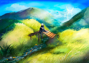 Peaceful day - uncomposed speedpainting