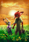 Zootopia Fanart - Judy and Nick