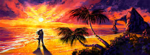 Speedpainting - Sunset shore