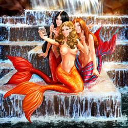 Mermaid selfie by pin100