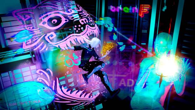 Holographic battle