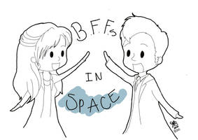 BFFs in Space by vintagearsenic