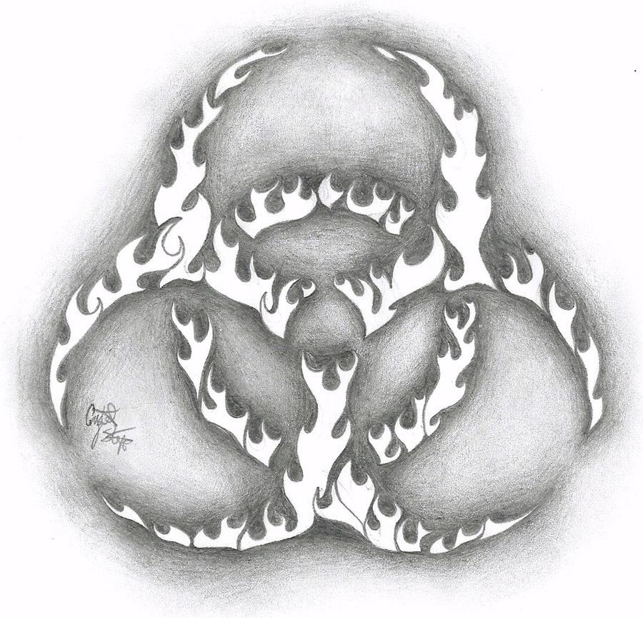 flame bio hazard tatt design by noctiluca angel on deviantart. Black Bedroom Furniture Sets. Home Design Ideas