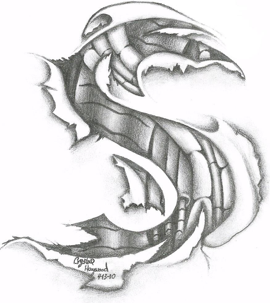 bionic tribal initial by noctiluca angel on deviantart