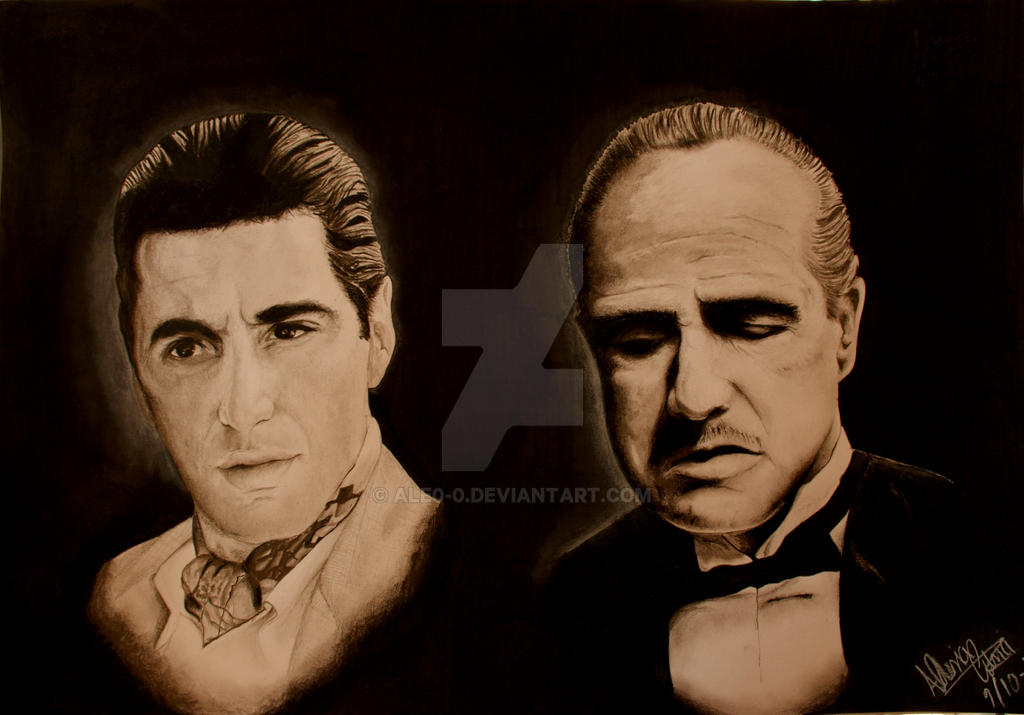 Vito and Michael Corleone - The godfather by ale0-0