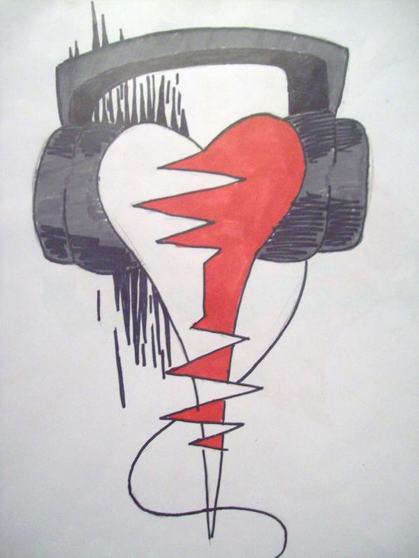 music heart tattoo. music tattoos. MUSIC HEART