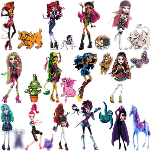 Monster High Characters And Pets 2 By Pinkrose25 On Deviantart
