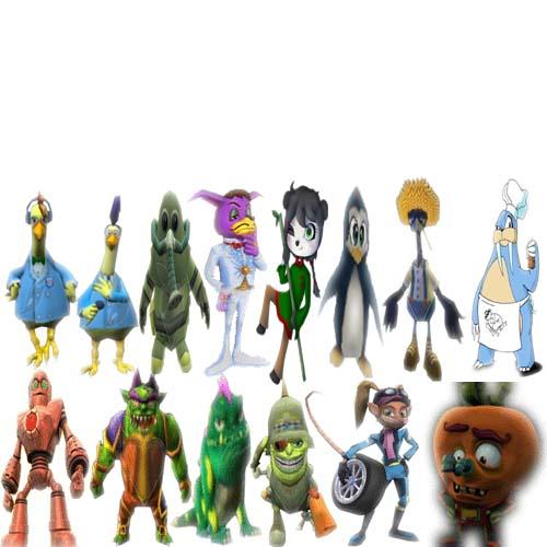Crash Bandicoot Characters 2 by pinkrose25 on DeviantArt