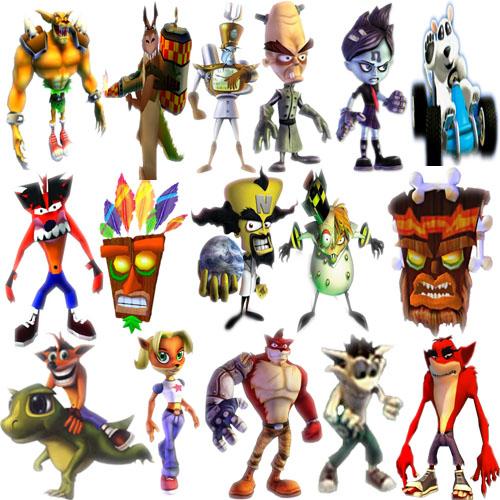 Crash Bandicoot Characters by pinkrose25 on DeviantArt