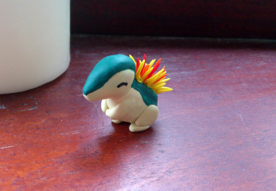 Fimo Cyndaquil by Furue