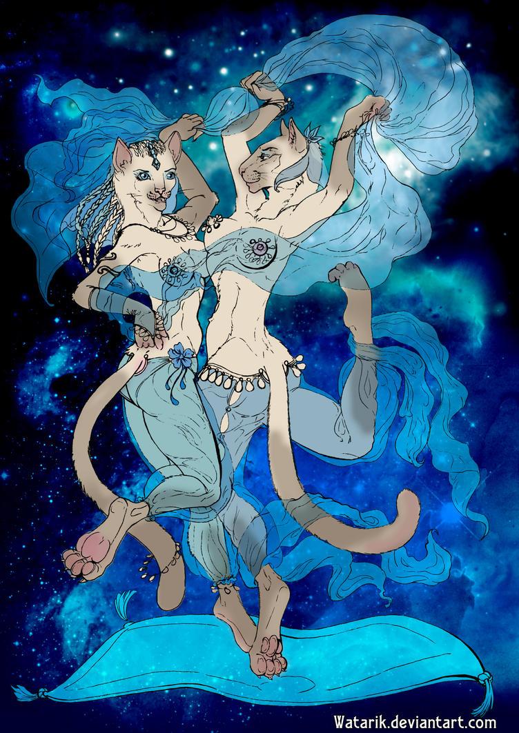 Blue dance by watarik