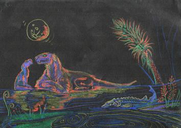 Permian night by watarik