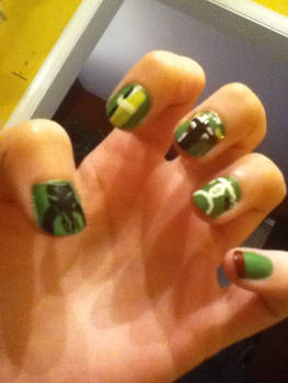 Boba Fett Nail Art