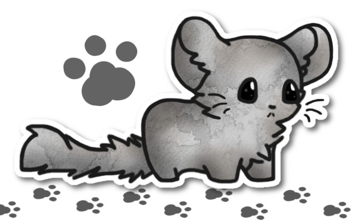 Chinchilla Sticker Chibi thing by xMandakax