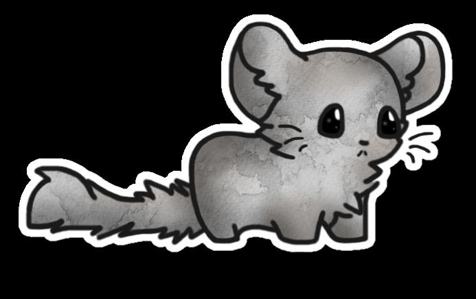chinchilla sticker chibi thing by xmandakax