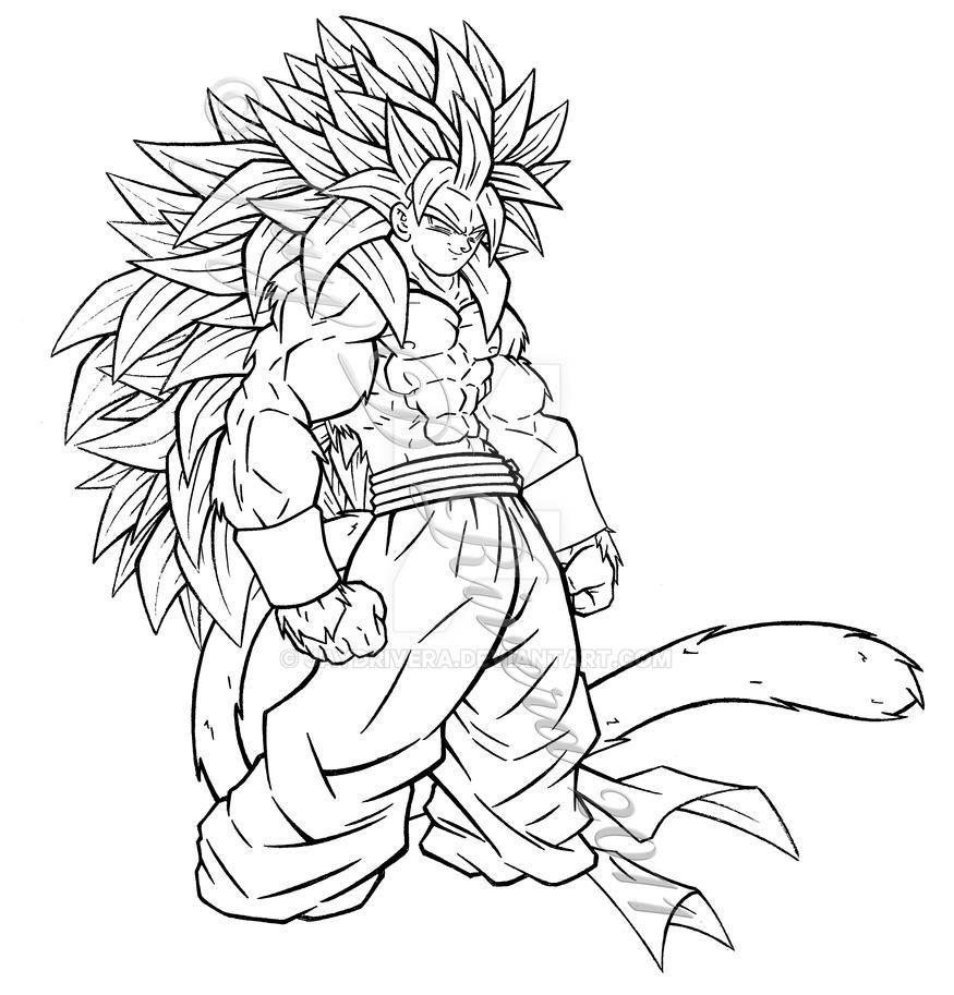 Super saiyan 5 fusion by jaydrivera on deviantart for Goku super saiyan 5 coloring pages