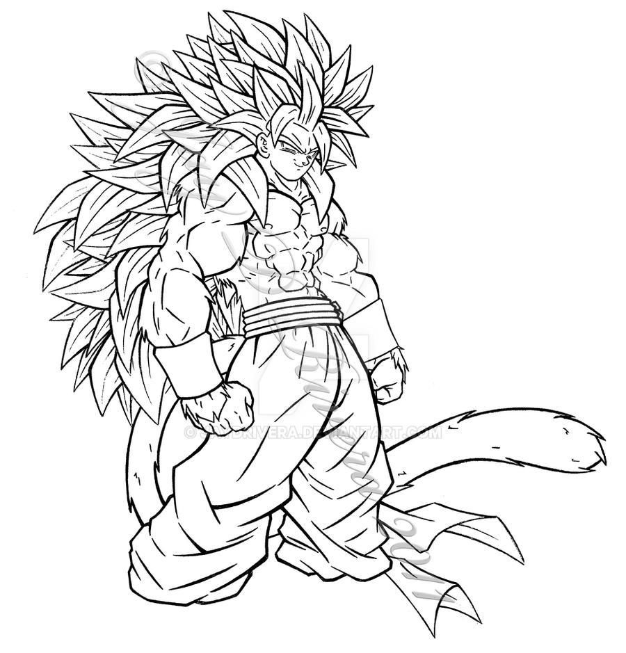 Super saiyan 5 fusion by jaydrivera on deviantart for Super saiyan coloring pages