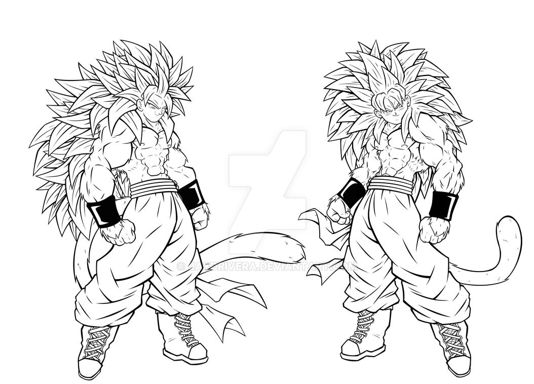 Coloring Pages Goku Super Saiyan 5 Coloring Pages browsing resources stock images on deviantart super saiyan fusions inked by jaydrivera