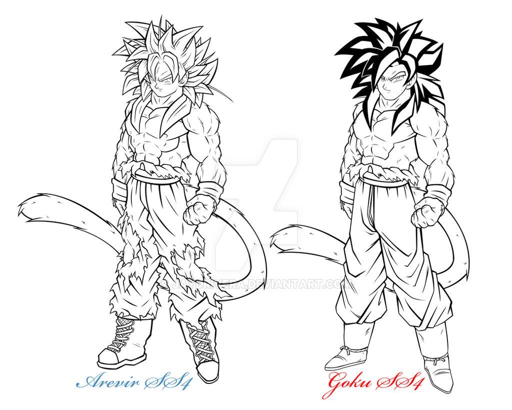 Lujo Imagenes Para Colorear De Goku Fase 4: Arevir And Goku SS4 By JayDRivera On DeviantArt