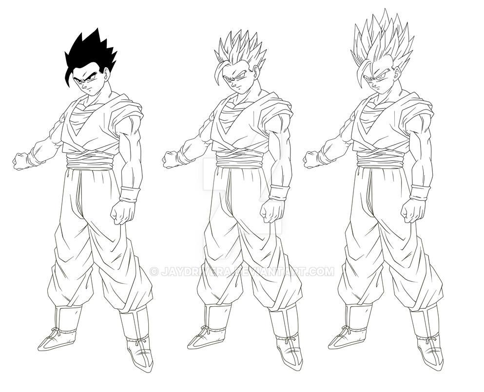 Character Design Dragon Ball Z : Gohancharacter sheet by jaydrivera on deviantart
