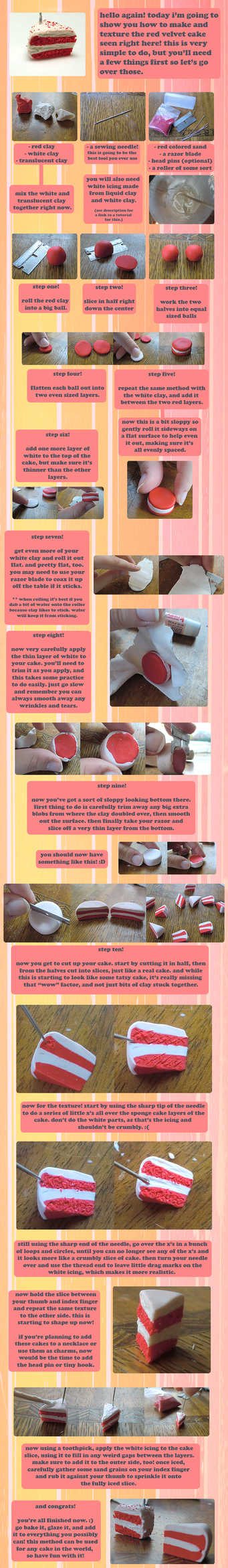Clay Red Velvet Cake Tutorial by GrandmaThunderpants