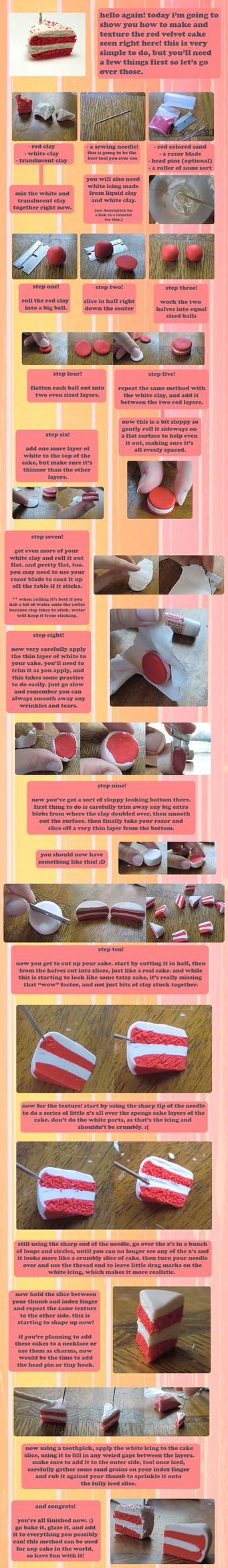 Clay Red Velvet Cake Tutorial by GrandmaThunderpants