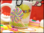 Rainbow Lollypop Necklace