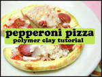 Polymer Clay PIZZA TUTORIAL :D