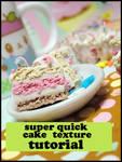 Quick Cake Texture Tutorial by GrandmaThunderpants