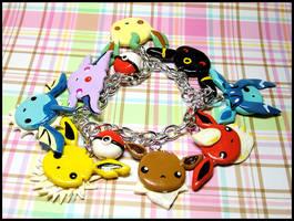 Eevee Evolutions Bracelet by GrandmaThunderpants