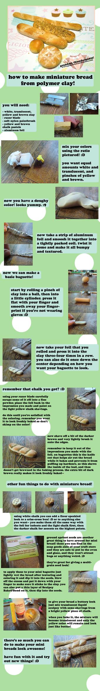 Miniature Clay Bread TUTORIAL by GrandmaThunderpants