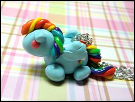 Chubby Rainbow Dash Necklace by GrandmaThunderpants