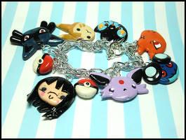 Custom Pokemon Trainer Bracelet by GrandmaThunderpants