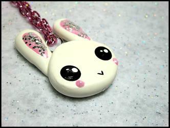 Super Cute Bunny Necklace by GrandmaThunderpants