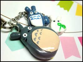 Totoro Phone Charm by GrandmaThunderpants