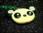 Glowing Panda Necklace by GrandmaThunderpants