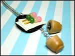 Dango + Matcha Necklace by GrandmaThunderpants