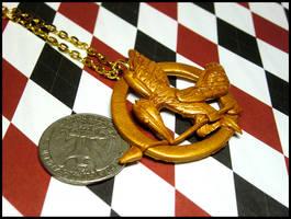 Mockingjay Necklace by GrandmaThunderpants