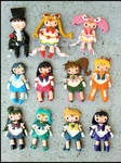 Sailor Senshi Charms by GrandmaThunderpants