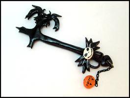 Pumpkinhead Keyblade Charm by GrandmaThunderpants