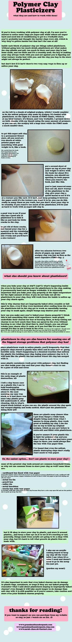 Polymer Clay Plasticizer Quick Guide by GrandmaThunderpants