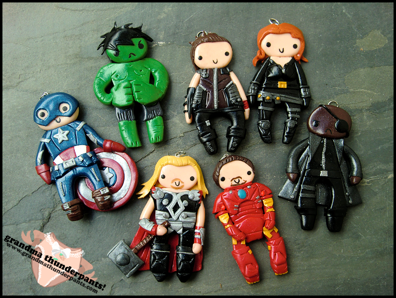 The Avengers Charms by GrandmaThunderpants